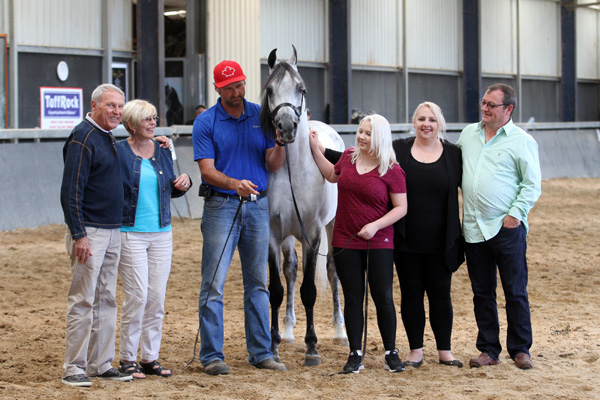 The Hardwick family with Doyle Dertell, the Norths and El Chall WR