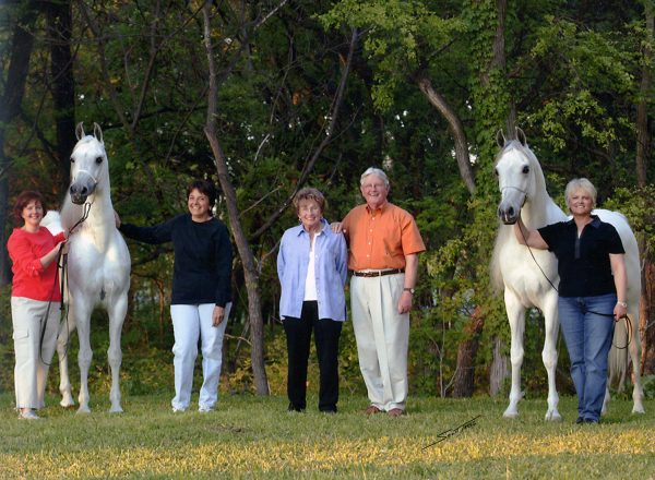left to right Becky Rogers Makhnificent KA Janice Bush Jean and Herb Rogers Marquis I Nancy Rogers Blankenship