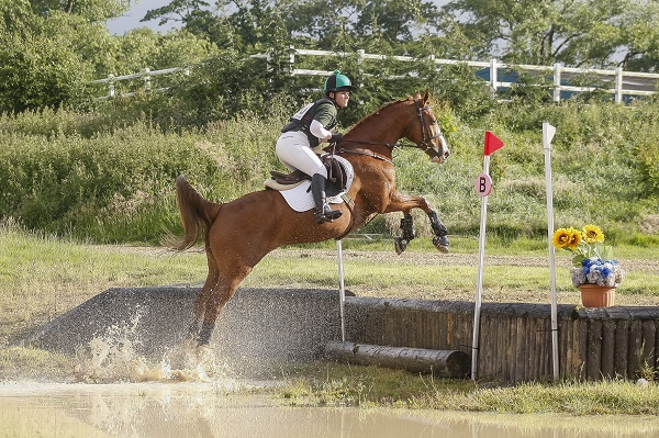 Avonbrook Odin eventing at 100cm - photo credit TopShots