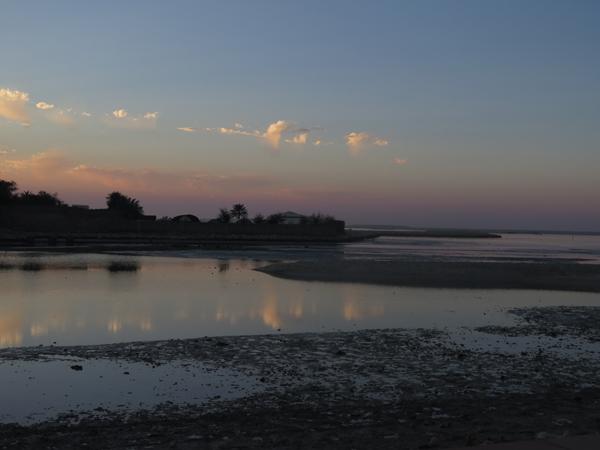 sunset at bahrain fort