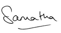 Samantha signature
