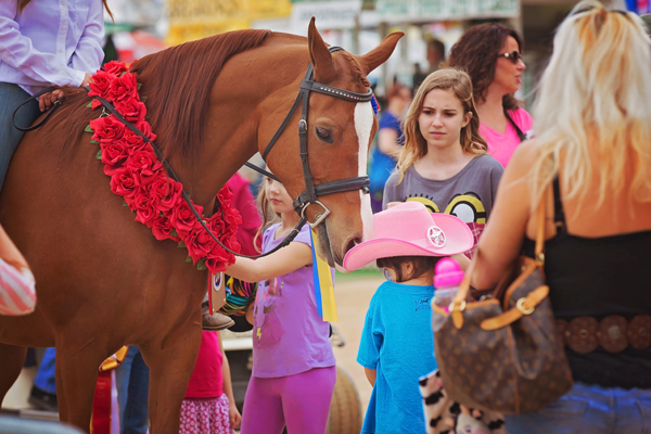 Scottsdale - girl cuddling horse
